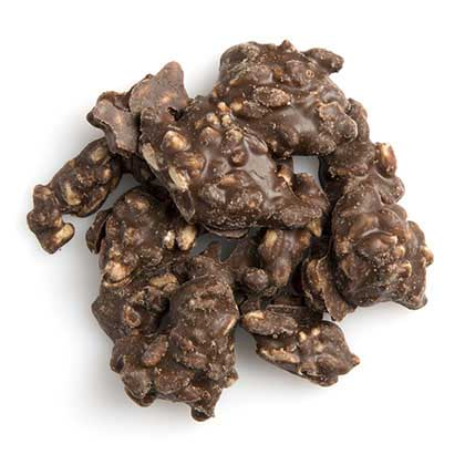 Carob Coated Sunflower Clusters