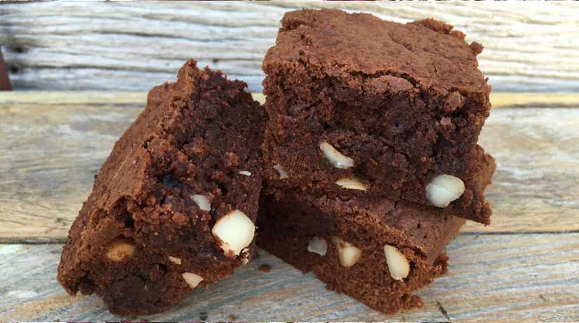 Chocolate Macadamia Brownies