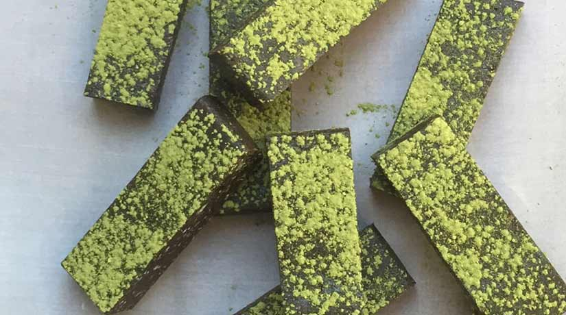 Dark Chocolate Matcha Slice