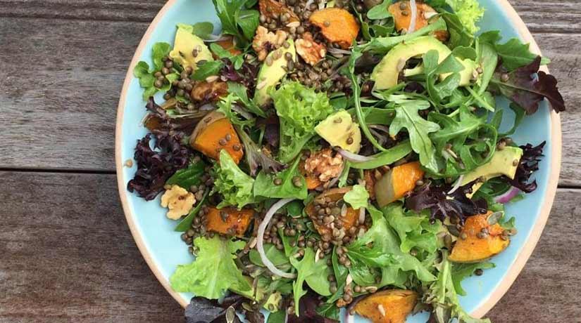 Roast Pumpkin Lentil Salad