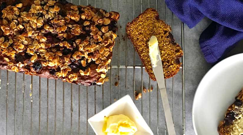 Banana Berry Breakfast Loaf