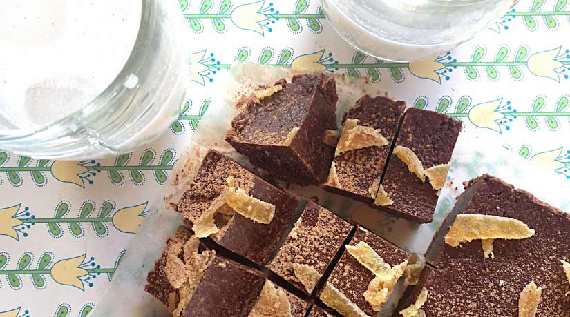 Spiced Ginger & Cacao Fudge