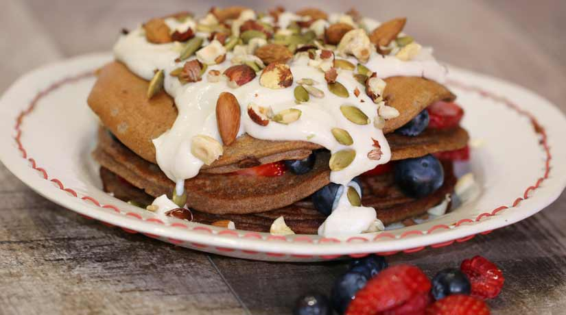 Teff Pancakes with Ricotta