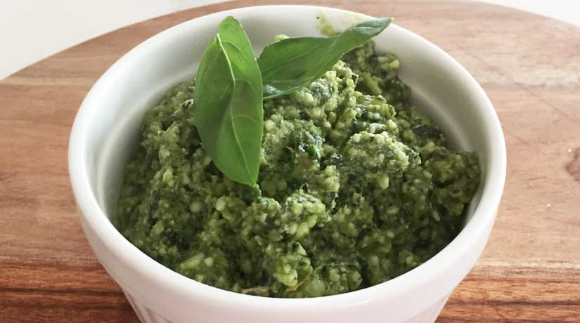 Basil Macadamia Pesto