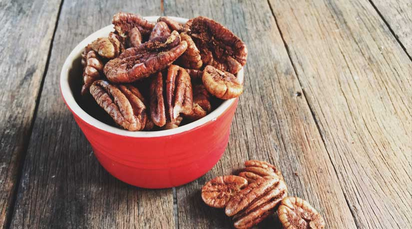 Spicy Ginger Roasted Pecans