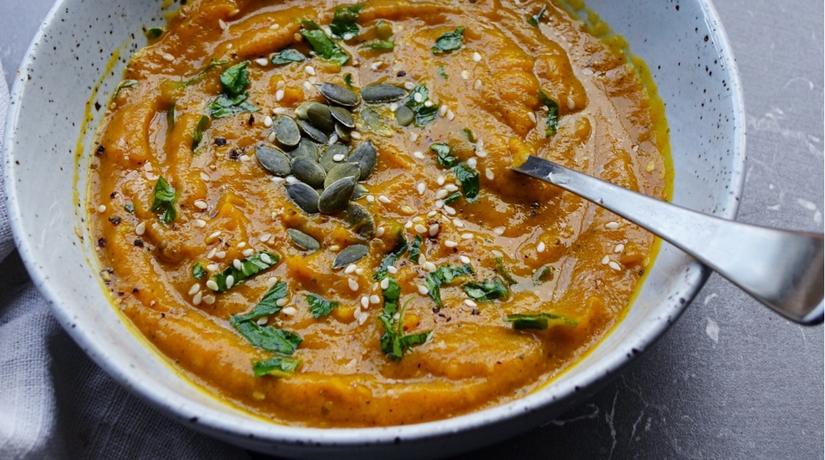 Pumpkin, Carrot & Ginger Soup
