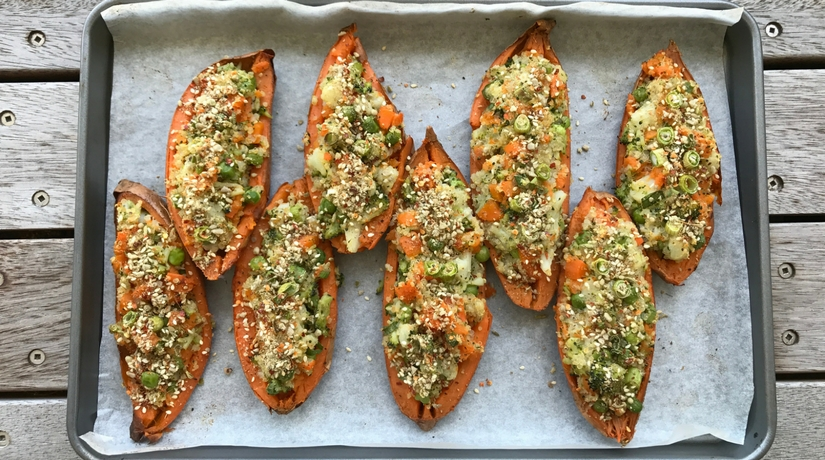 Baked Stuffed Sweet Potato