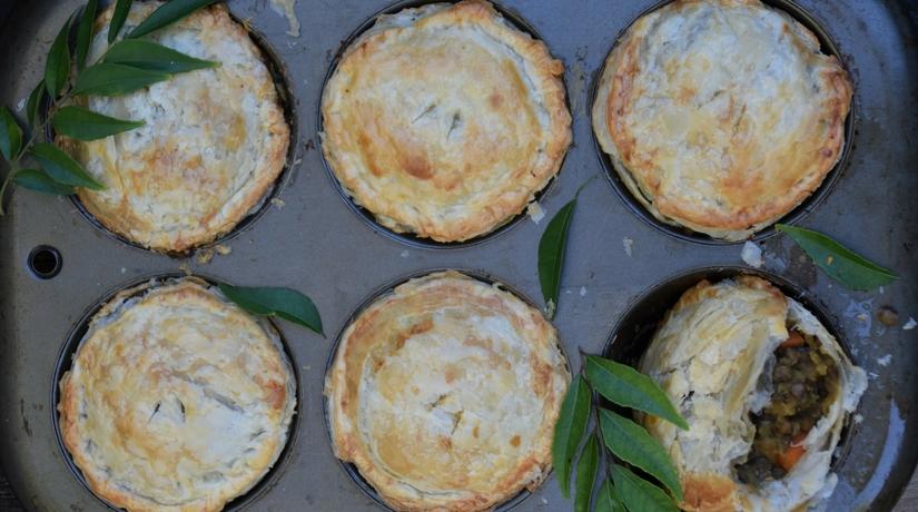 Curried Lentil Pie