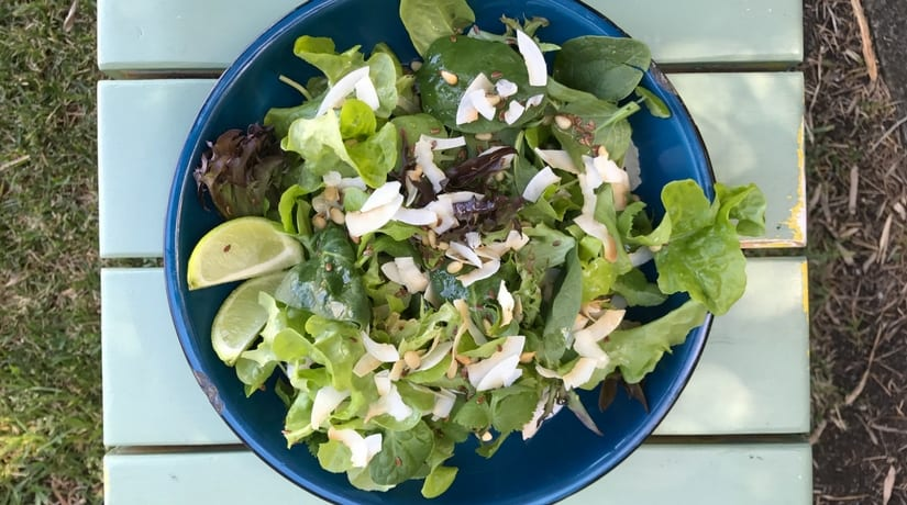 Lettuce and Coconut Salad
