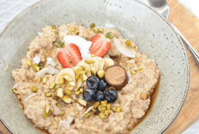 Cinnamon and Vanilla Oat Porridge