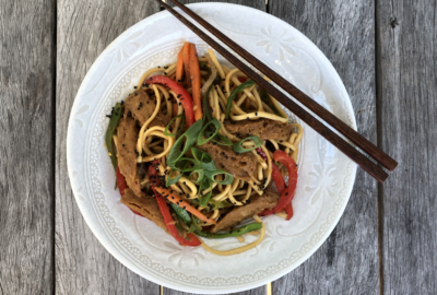 Vegetable Stir Fry featuring Gluten (DF/Vegan)