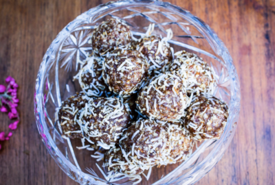 Carob, Tahini & Orange Bliss Balls