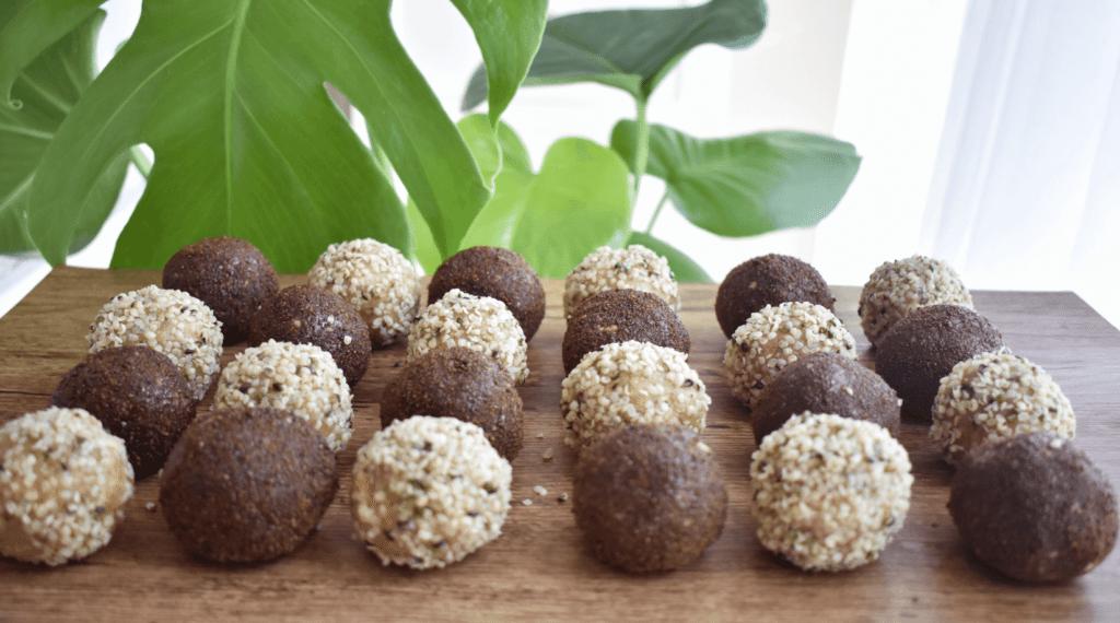 Chocolate and Vanilla Hemp Bliss Balls