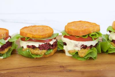 Beetroot & Black Bean Burgers (GF/DF)