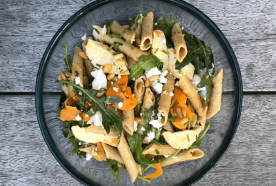 Sweet Potato and Goats Cheese Penne Pasta