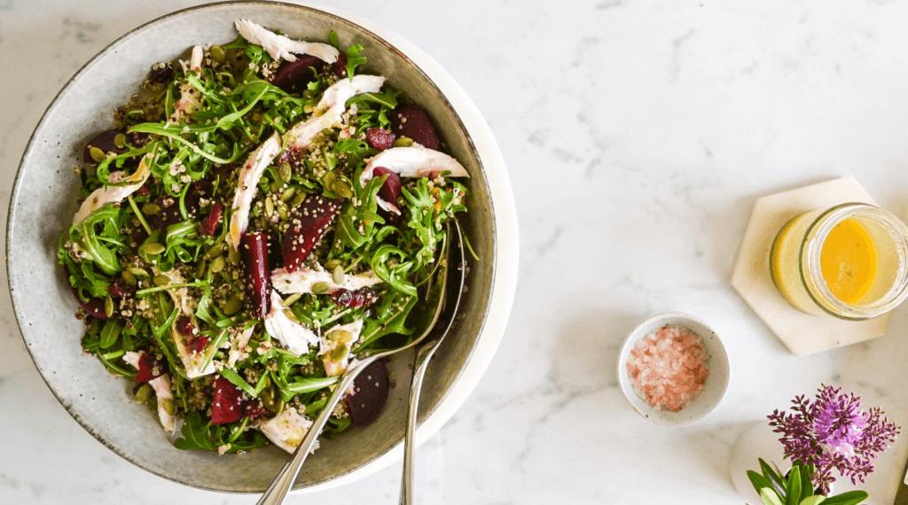 Poached Chicken & Quinoa Salad