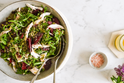 Poached Chicken & Quinoa Seedy Salad