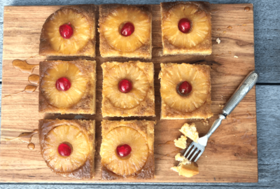 Upside Down Pineapple Christmas Cake