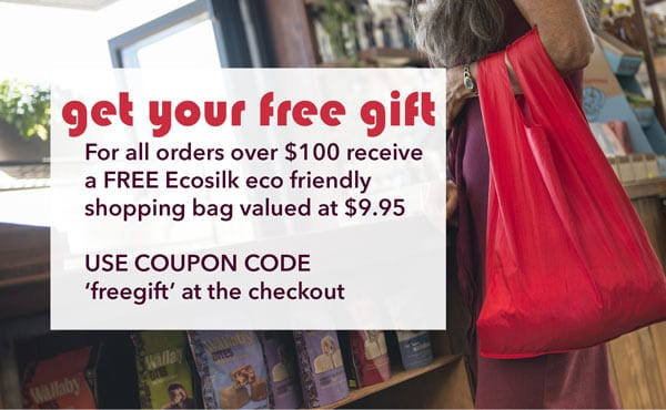 Free Gift Ecosilk Eco Friendly Shopping Bag from Affordable Wholefoods