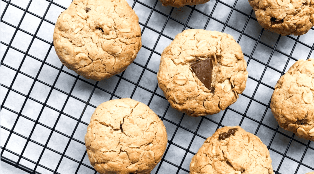 Salted Chocolate Oat Cookies