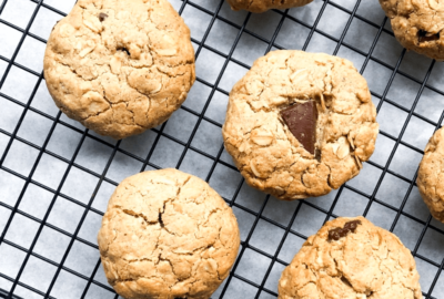 Salted Chocolate and Oat Cookies