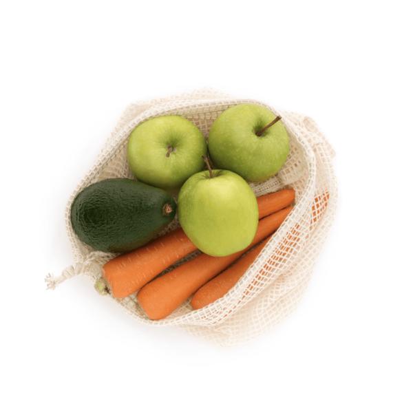 Organic Cotton Fruit & Veggie Bags (Twin Pack)