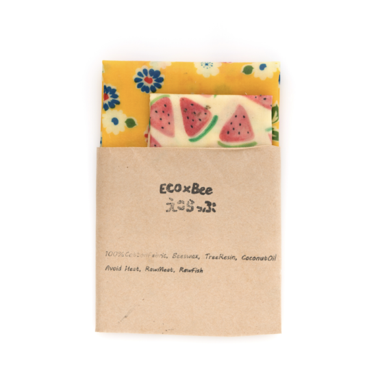 Eco Bee Eco Wax Wraps Twin Pack