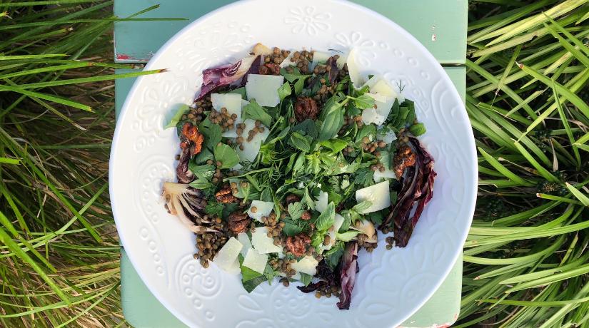 French Puy Lentil & Radicchio Salad