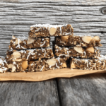 Prune Coconut Cinnamon Slice