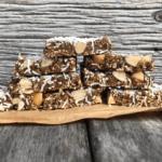 Prune Coconut Cinnamon Slice
