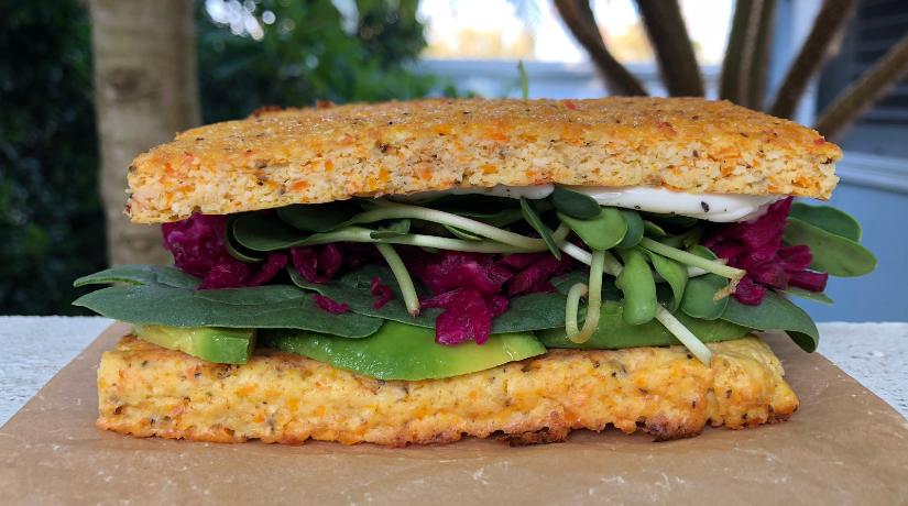 Rainbow Flat Bread Sandwich