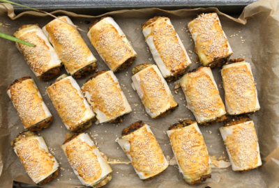 Sweet Potato and Lentil Sausage Rolls