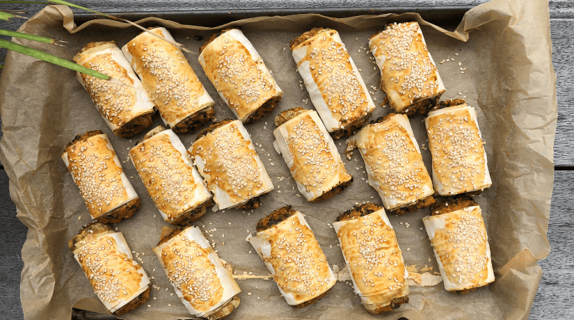 Sweet Potato Sausage Rolls