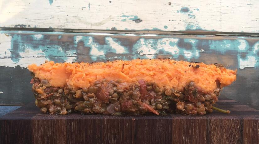 Sweet Potato and Lentil Pie