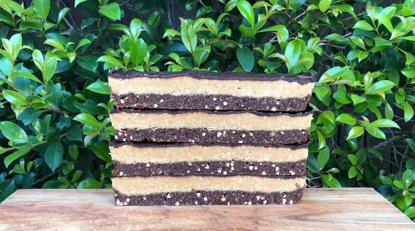Dark Chocolate Peanut Butter Slice