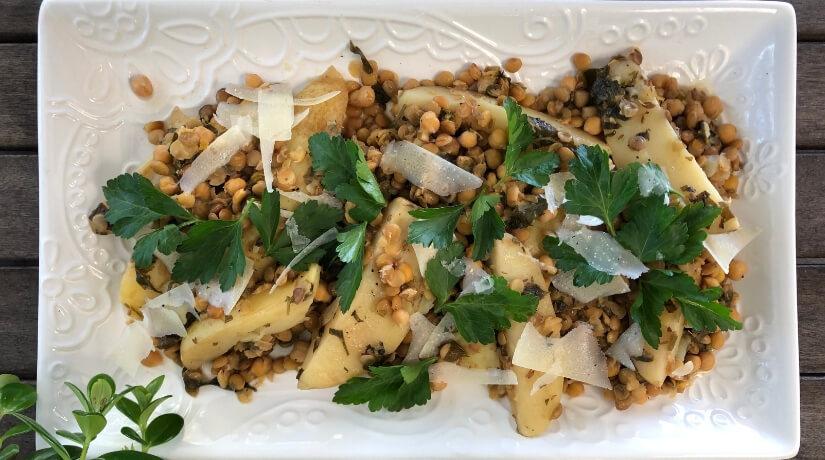 Lentil, Potato & Chickpea Stew