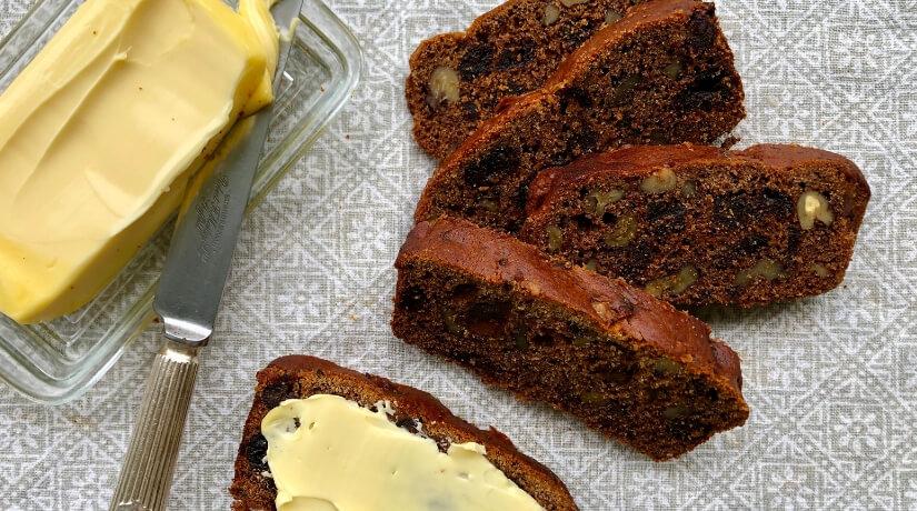 Gluten Free Date & Walnut Loaf