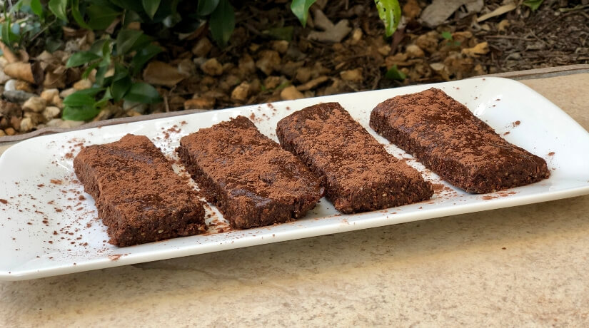 Raw Chocolate & Nut Protein Brownies