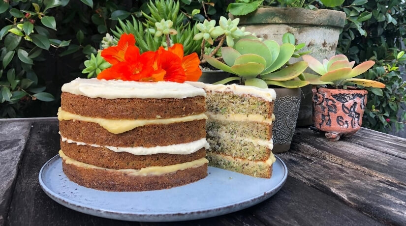Lime Coconut and Courgette Cake
