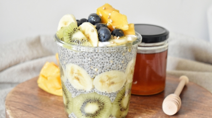 Summer Chia & Buckwheat Pudding