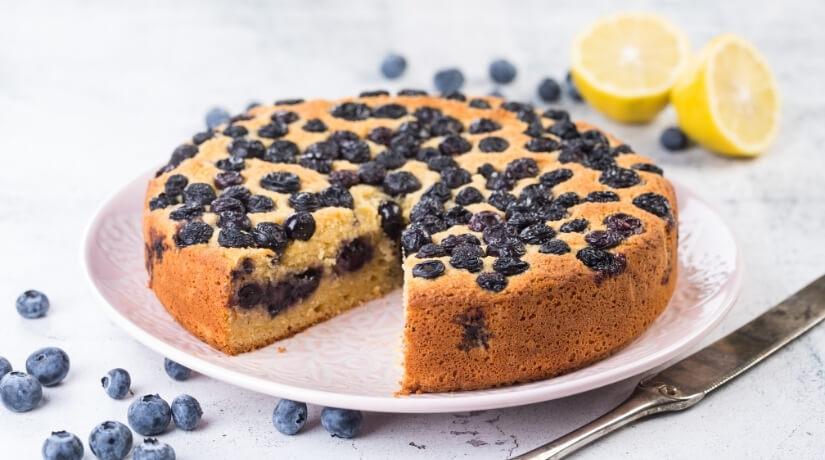 GF Blueberry & Lemon Cake