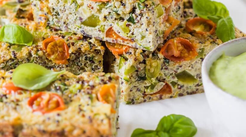 Quinoa Veggie Slice