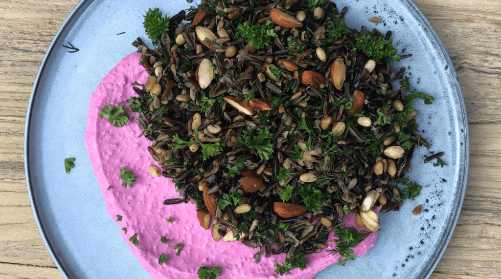 Wild Rice with Minted Beetroot Salad